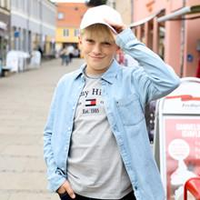 KB0KB06415 Tommy Hilfiger Skjorte LYS BLÅ