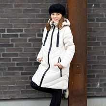 7210881 Hound Long Down Jacket Off white