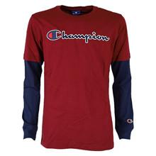 305382 Champion T-shirt L/Æ BORDEAUX