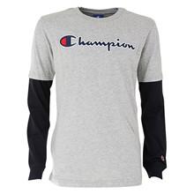 305382 Champion T-shirt L/Æ GRÅ