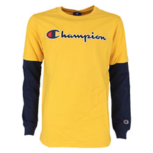 305382 Champion T-shirt L/Æ GUL