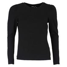 13189929 LMTD T-shirt med puff ærme SORT