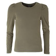 13189929 LMTD T-shirt med puff ærme ARMY