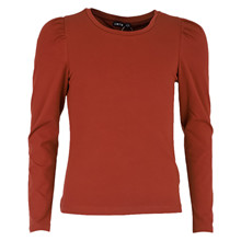 13189929 LMTD T-shirt med puff ærme BORDEAUX