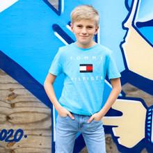 KB0KB06523 Tommy Hilfiger T-shirt LYS BLÅ
