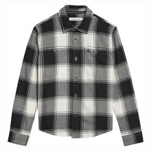 IB0IB00644 Calvin Klein Check Shirt SORT