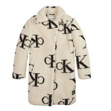IG0IG00705 Calvin Klein Plysfrakke Off white