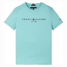 KB0KB05844 Tommy Hilfiger Logo Tee LYS BLÅ