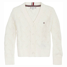 KG0KG05526 Tommy Hilfiger Cardigan Off white