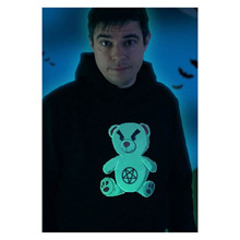Niki Topgaard Glow Bear Hoodie SORT
