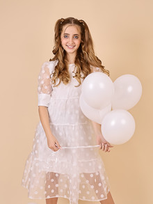 WM1067 White & More Nellie Dress HVID