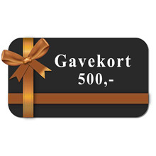 Gavekort 500 kr. 00