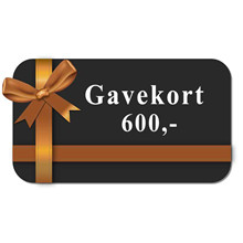 Gavekort 600 kr. 00