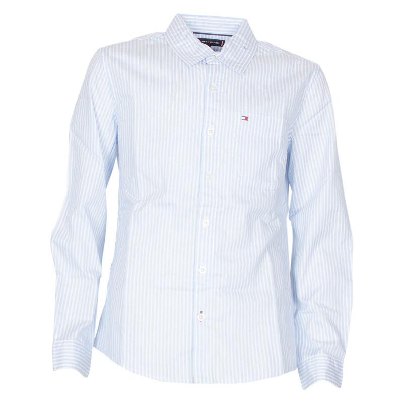 096286c0424 Smart, stribet Tommy Hilfiger skjorte til drenge