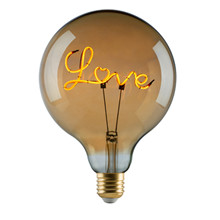 "e3 LED Vintage ""Love"" E27 base down golden dimmable"