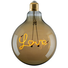 "e3 LED Vintage ""Love"" E27 base up golden dimmable"
