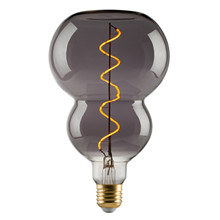 e3 LED Vintage BG120 4W Spiral E27 Smoked 2200K dimmable