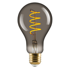 L&C LED Vintage A75 4W Spiral E27 Smoked 2200K Dimmable
