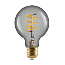 L&C LED Vintage G80 4W Spiral E27 Clear 2200K Dimmable