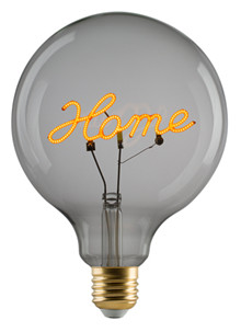 """e3 LED Vintage G125 """"Home"""" E27 base down clear dimmable"""