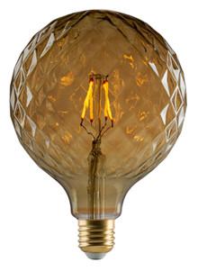 """e3 LED Vintage G125 """"Pineapple"""" E27 golden dimmable"""