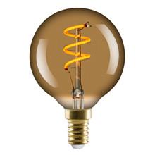 L&C LED Vintage G60 2.5W Spiral E14 Golden 2000K Dimmable