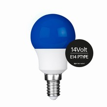 e3 LED P45B STD 0,3W 14V BLUE E14