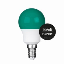 e3 LED P45B STD 0,3W 14V GREEN E14