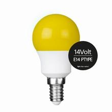 e3 LED P45B STD 0,3W 14V YELLOW E14