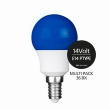 e3 LED P45B STD 0,3W 14V BLUE E14 - 36BX