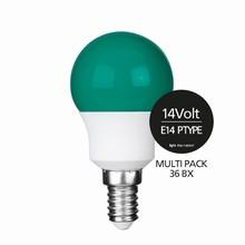 e3 LED P45B STD 0,3W 14V GREEN E14 - 36BX