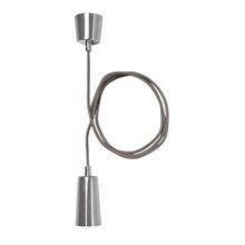 PLUMEN DROP Fatning - 2M ledning - E27 - CHROME