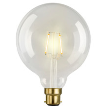 e3 LED Vintage, G125 Clear 1W 2 FILAMENT B22