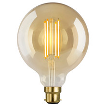 e3 LED Vintage G125 B22 4 Filament Golden Dimmable