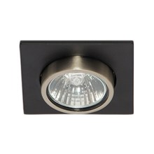 Daxtor Quattro 85x85 PIPE Black Pearl downlight, incl. GU10 230V Housing