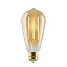 e3 LED Vintage ST64 4 filament Golden dimmable