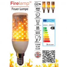Firelamp LED E14 64 diodes clear WH