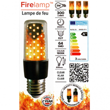 Firelamp LED E27 64 diodes clear BL