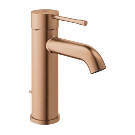 Grohe Essence håndvaskarmatur m/ bundventil, S-size - PVD Brushed Warm Sunset