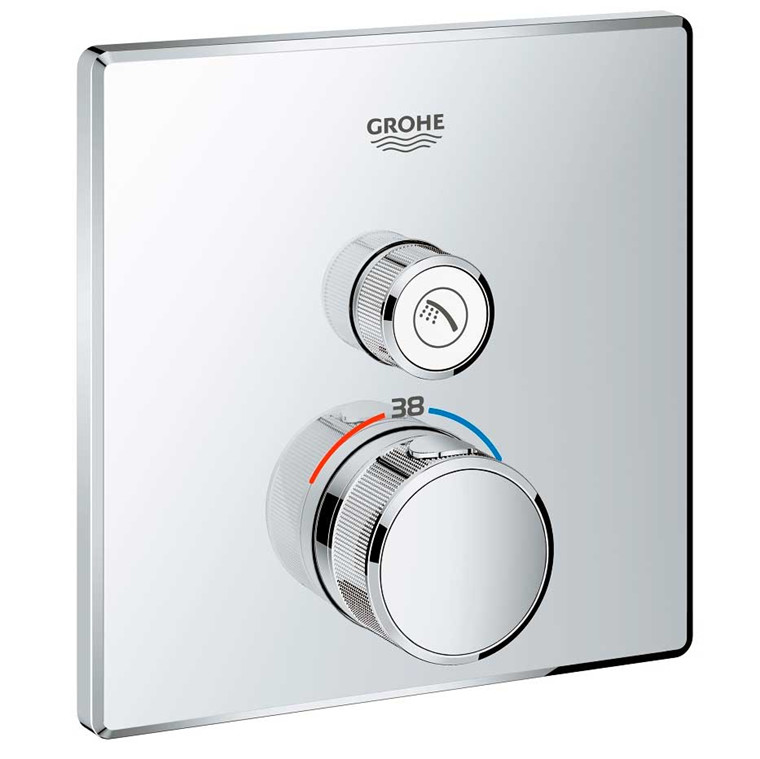 Grohe Grohtherm SmartControl Termostat t/indbyg m/1 ventil, krom