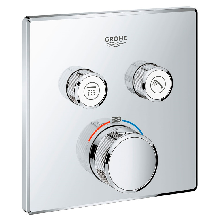 Grohe Grohtherm SmartControl Termostat t/indbyg m/2 ventiler, krom