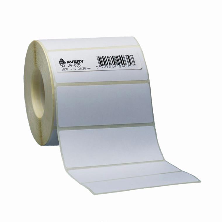 Etiket Avery 50x80 mm hvid 1000 stk.