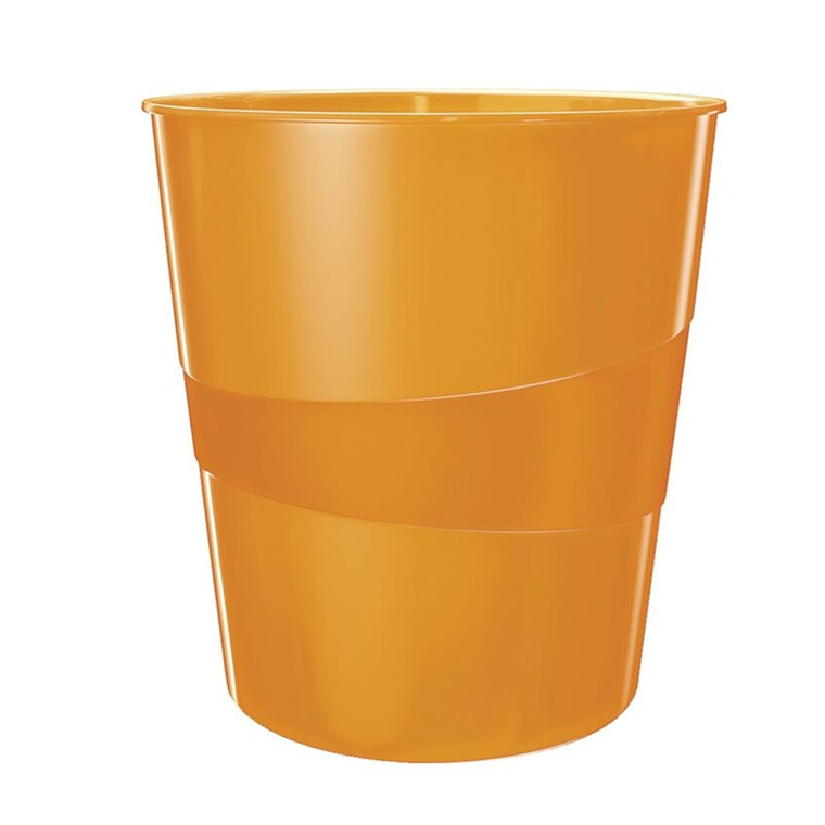 Leitz WOW Papirkurv 15 l. orange metallic