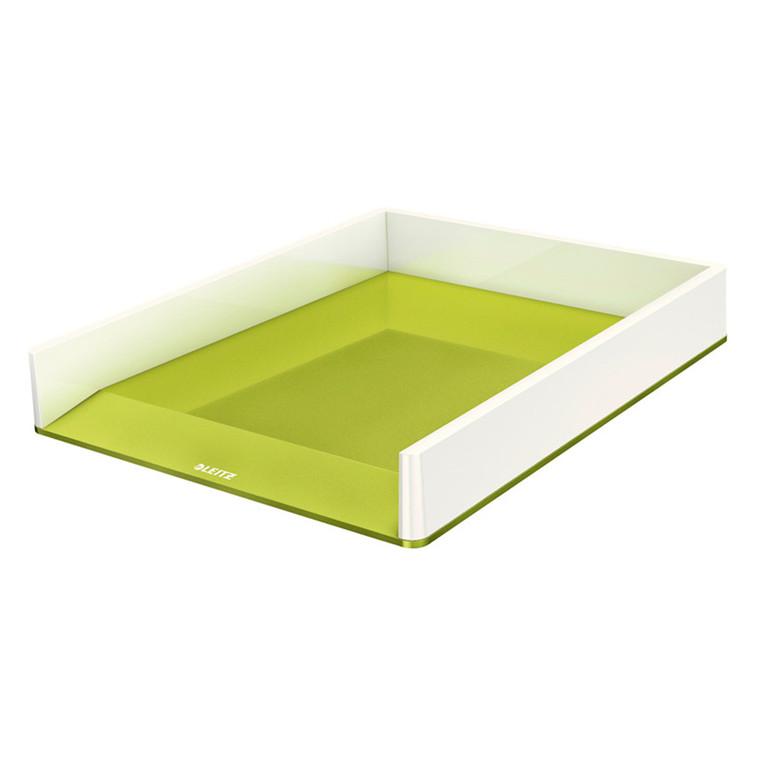 Leitz WOW brevbakke - Tofarvet, perlehvid og grøn, metallic