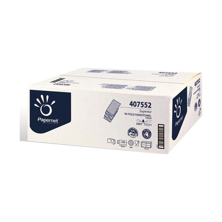 Papirhåndklæde 2-lags - Håndklædeark TAD, nonstop, 100 % nyfiber, 2 pk