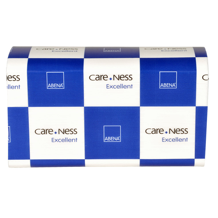 Abena 2-lags håndklædeark, Care-Ness Excellent - 100 % nyfiber, 4.000 ark