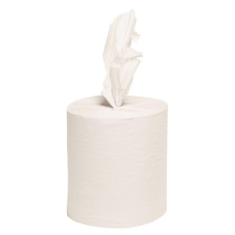 Håndklæderulle uden hylse, Care-Ness - Ø20 cm, Hvid, 6 rl
