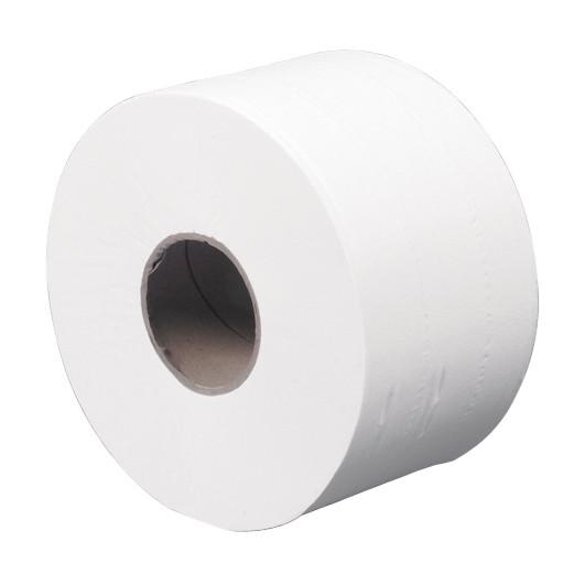 Toiletpapir jumborulle Care-Ness - 2-lags, Hvid, 12 rl.