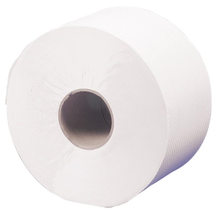 Toiletpapir, 2-lags, Care-Ness jumborulle - 100 % genbrugspapir, 12 ruller