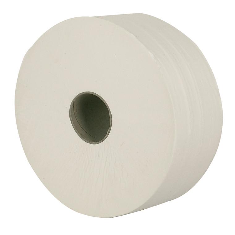 Toiletpapir 2-lags - Jumbo, midi, 100 % nyfiber, 6 rl.